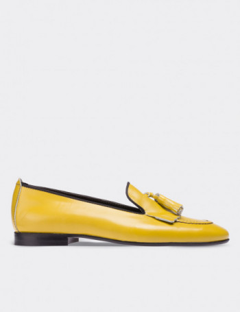 Yellow Patent Leather Loafers