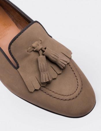 Tan Nubuck Calfskin Loafers