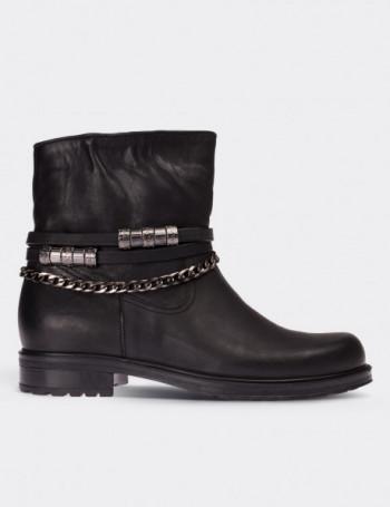 Black Nubuck Calfskin Boots