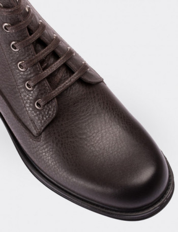Brown Calfskin Leather Boots