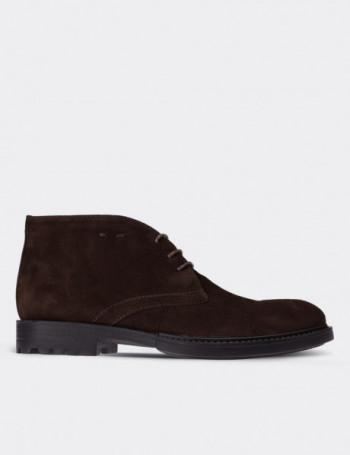 Brown Suede Calfskin Desert Boots