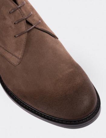 Mink Suede Calfskin Desert Boots