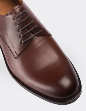 Tan Calfskin Leather Classic Shoes