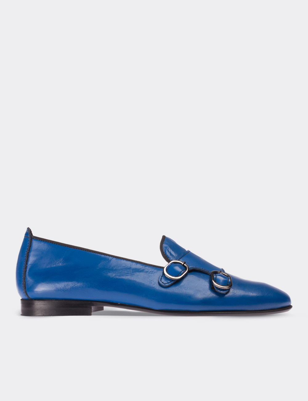 Blue Patent Leather Loafers - Deery