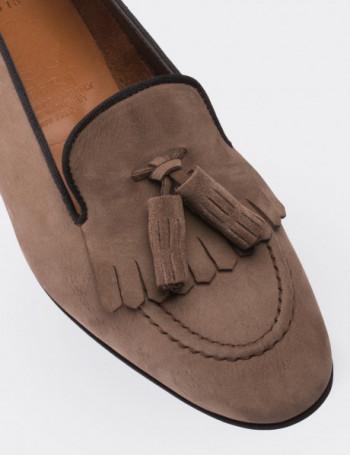 Mink Nubuck Calfskin Loafers