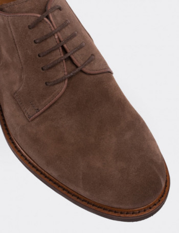 Mink Suede Calfskin Lace-up Shoes