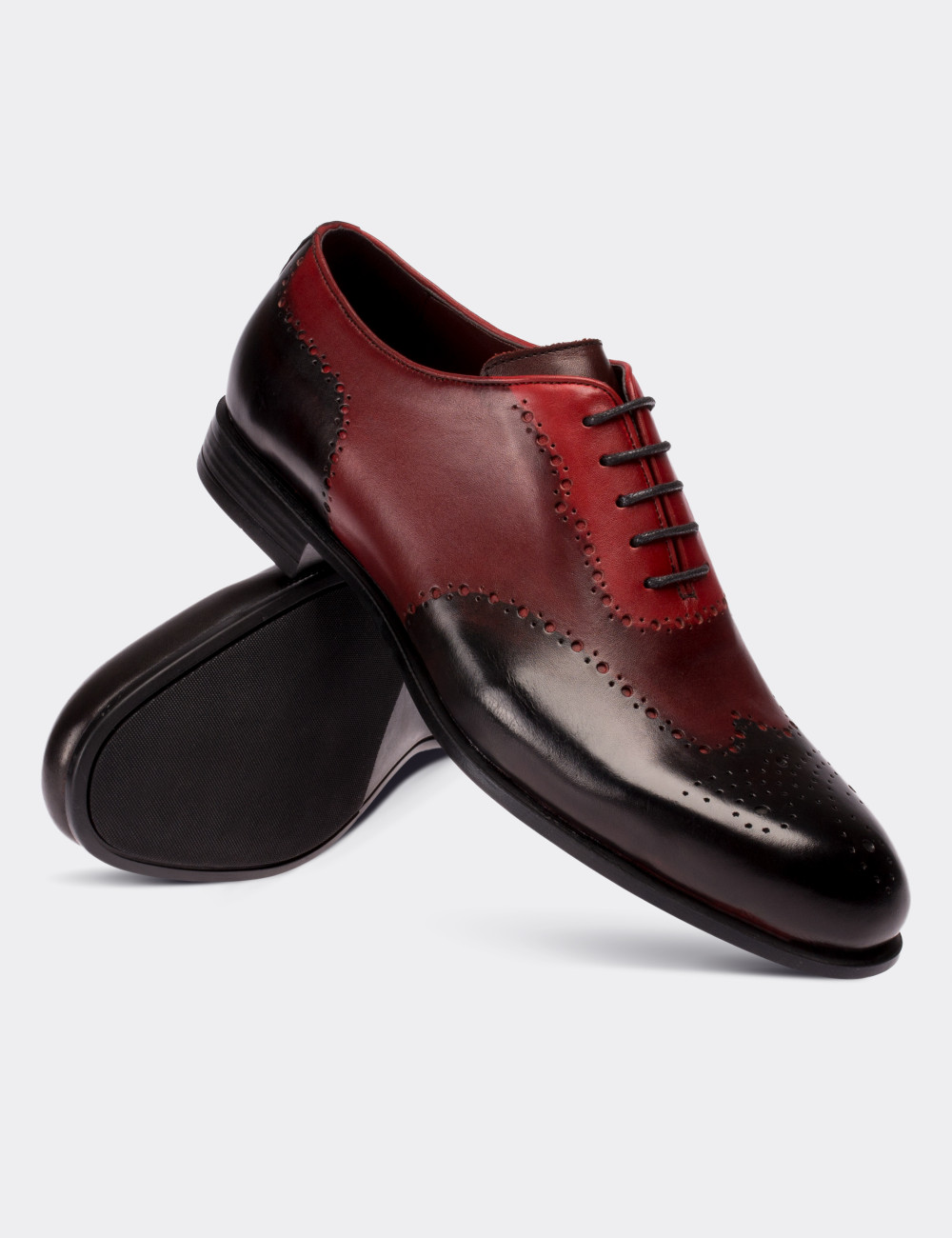 3601f6904a Burgundy Calfskin Leather Classic Shoes - 01684MBRDC01