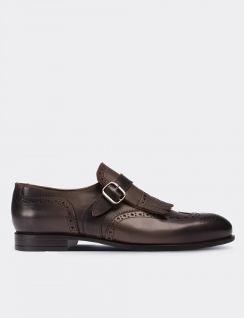 Mink Calfskin Leather Classic Shoes