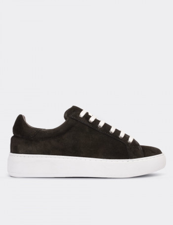 Green Suede Calfskin  Sneakers