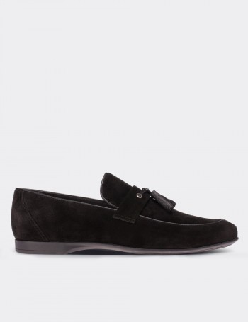 Black Suede Calfskin Loafers & Moccasins Shoes