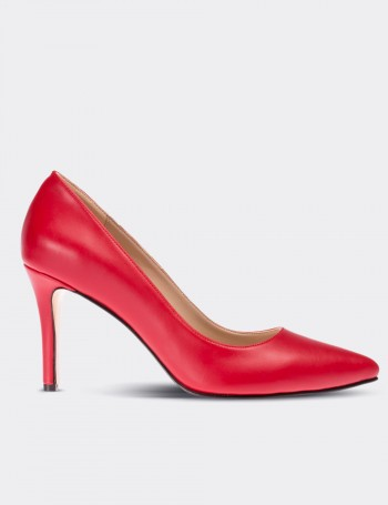 Red Stiletto Pump