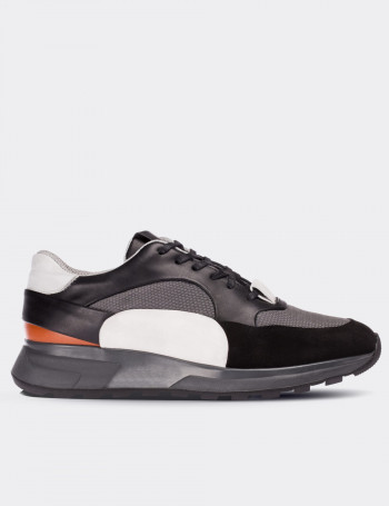 Black Calfskin Special Edition Leather Sneakers