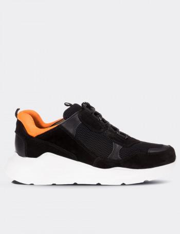 Black Suede Calfskin Sneakers