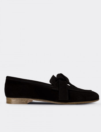 Black Suede Calfskin Loafers