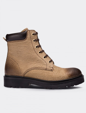 Tan Nubuck Calfskin  Boots