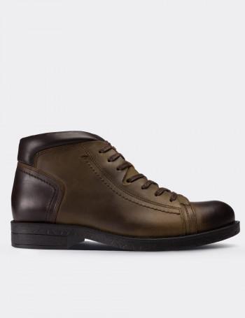 Green Nubuck Calfskin  Boots
