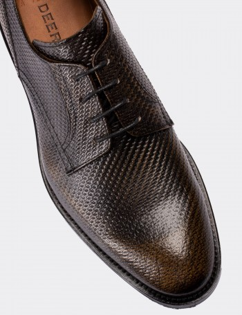 Copper Calfskin Leather Classic Shoes