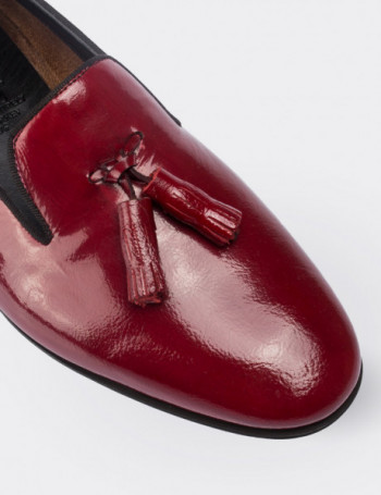 Burgundy Patent Leather Loafers