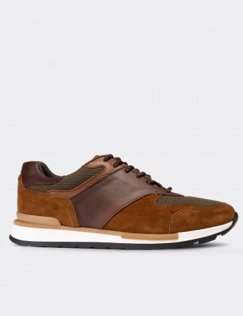 Brown Suede Calfskin Sneakers
