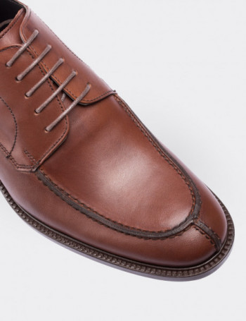 Brown Calfskin Leather Classic Shoes