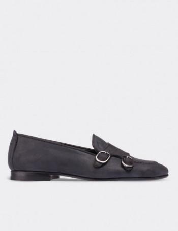 Black Nubuck Calfskin Loafers