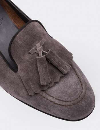 Brown Suede Calfskin Loafers